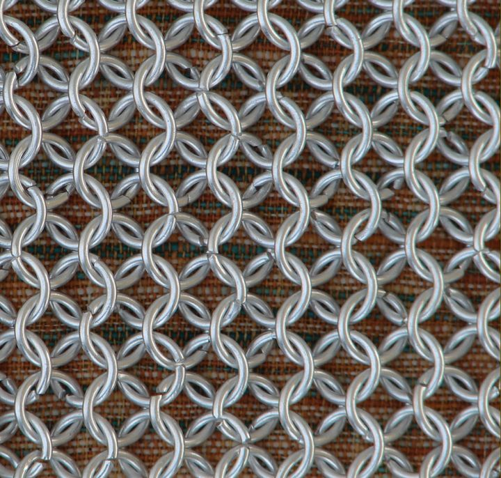 ALUMINIUM CHAINMAIL Shirt ROUND WIRE BUTTED HAUBERK Medieval Chainmaille Armor