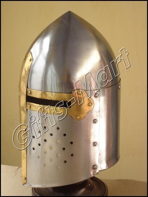 Armour Sugar Loaf Helmet, Medieval Sugarloaf Helmets, Reenactment, Collectible