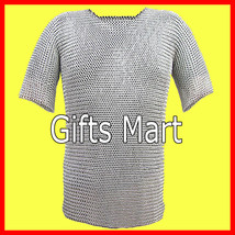 Chainmail Shirt Aluminum Revited Hauberk M Size Medieval Armor gift - $99.00