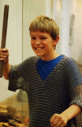 Chainmail Shirt for children age 5 to 10 year Blackened, Medieval Gift for child