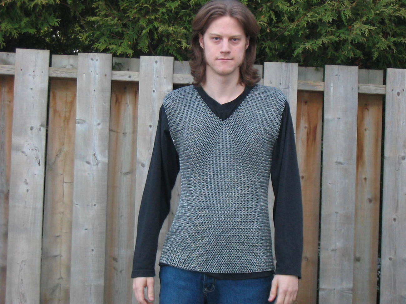 Chainmail Shirt sleeveless Chain Mail Armor Sca Armour, Unique,Armor Gift