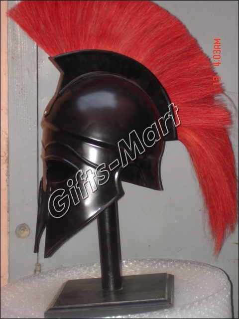 Corinthian Helmet + Leather Liner, Fully Wearable Re-enactment LARP Collectible