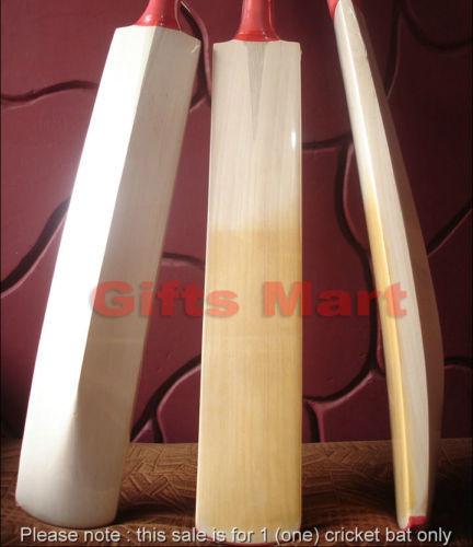 Custom Hand Made English Willow Cricket Bat,Grade 1 Willow, Knocked,Oiled,+Extra