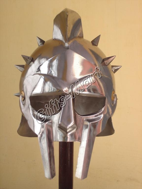 GLADIATOR HELMET Roman Greek Armor MAXIMUS Helmets,Colosium Fight Helmets