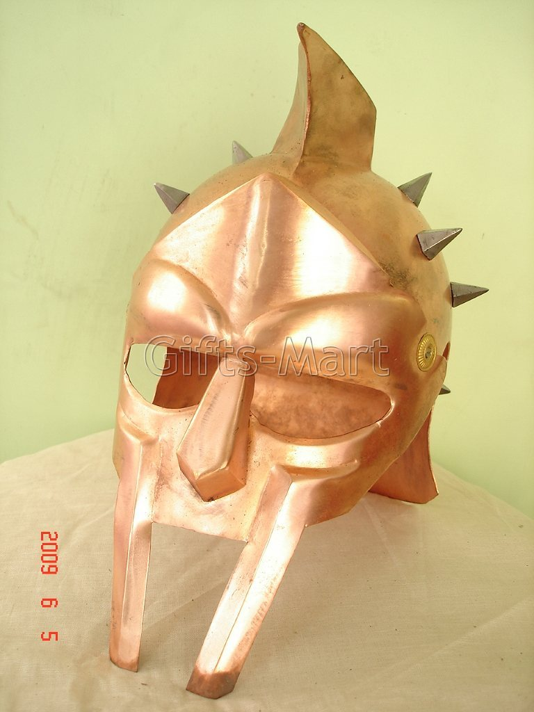 Gladiator Maximus Helmet Medieval Greek Armor Movie Stage Drama Fancy Gifts