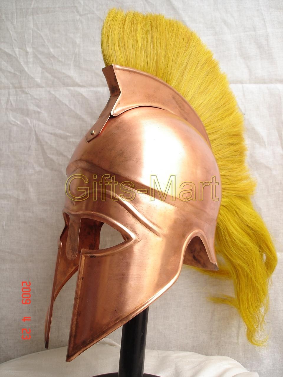 Greek CORINTHIAN HELMET Medieval Roman Helmets SCA , Trojan Spartan Replica