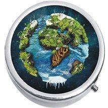 Planet Earth Art Medicine Vitamin Compact Pill Box - $9.78