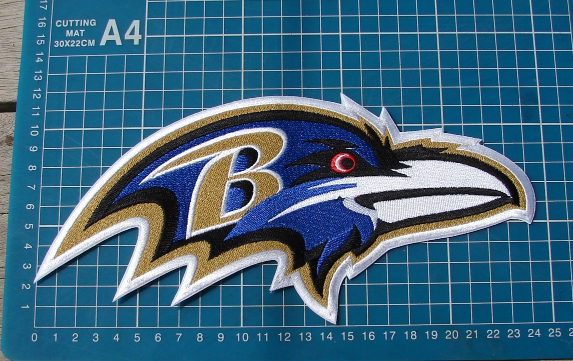 Primary image for Baltimore Ravens Football NFL Superbowl Jersey sew on embroidery HUGE patch