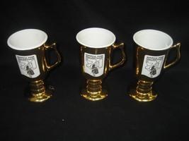 Vintage Hall Mug March For MacArthur 1969 Gold Mug Made in USA Set of Th... - $17.72