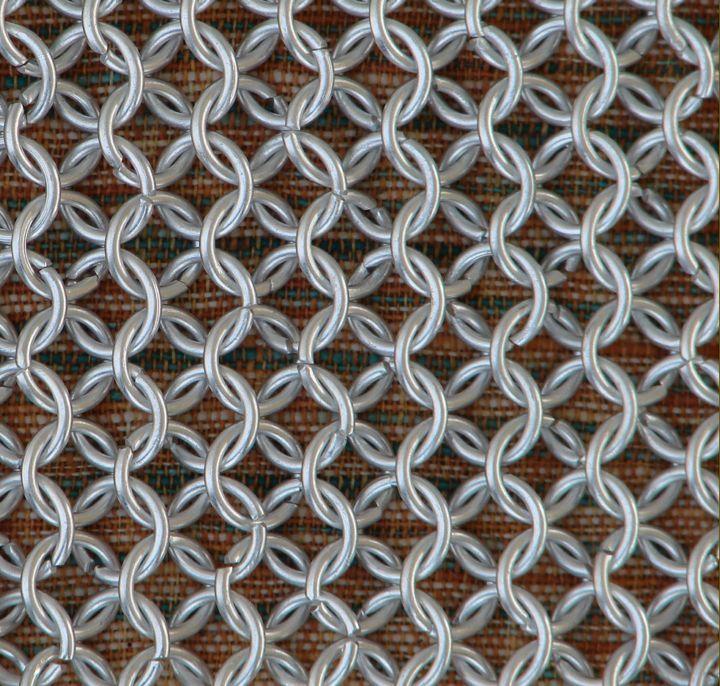 Kettenhaube, quadratischer Ausschnitt, verzinkt Kettenhemd Mittelalter LARP