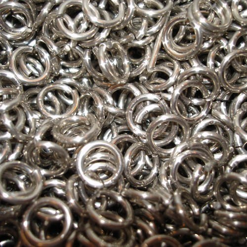 Kettenringe 3kg ca 6250 Ringe brüniert 9mm Kettenhemd, verzinkt Kettenhemd Ring