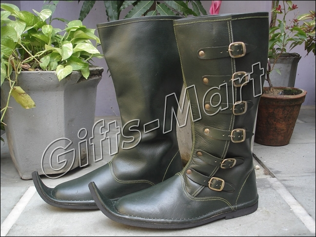 LEDER STIEFEL Larp Rüstung Ritterhelm Mittelalter. Medieval Shoes, Boots, *Larp
