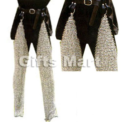 MEDIEVAL CHAINMAIL Leg, Mild WARRIOR Steel BUTTED  Armor, Chain Mail Legging Sca
