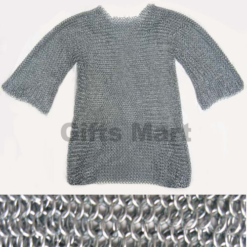 MEDIEVAL CHAINMAIL SHIRT Collectible CHAIN MAIL, Ancient,Replica,Armor  Larp Sca