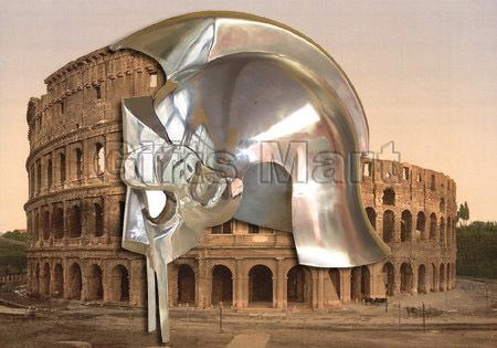 MEDIEVAL GLADIATOR HELMET Roman Maximus Movie Arena Helmets, Replica Movie Prop
