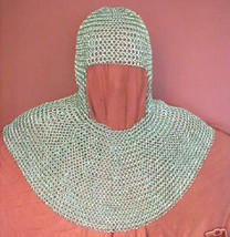 Medieval Chainmail Coif, Riveted Chain Mail Armor Hood, New year Gift fo... - $77.99