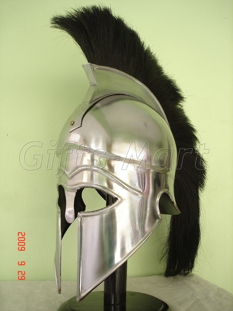 Medieval Greek CORINTHIAN HELMET,  Larp Armor Helmets, Fancy Spartan Dress