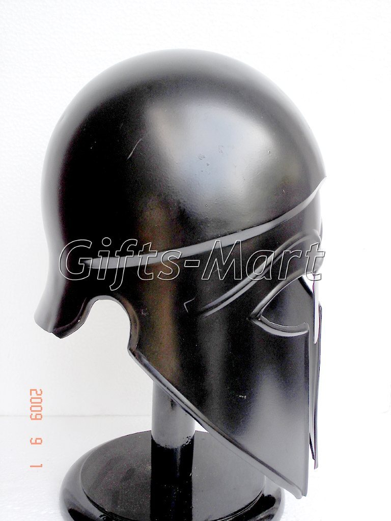 Medieval Greek CORINTHIAN Knight HELMET,Spartan Helmets Black,Collectible Sca**