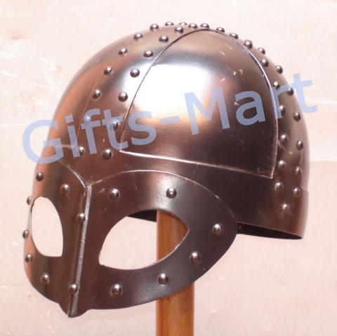 Medieval Viking Helmet w.spectacles like visor Blackened, 900 AD,Armor of Viking