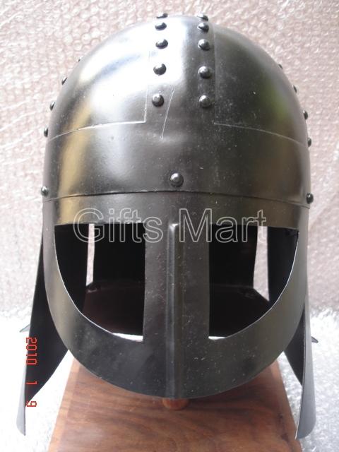 Medieval Viking Helmet w.spectacles like visor Blackened, 900 AD,Vikings Armours