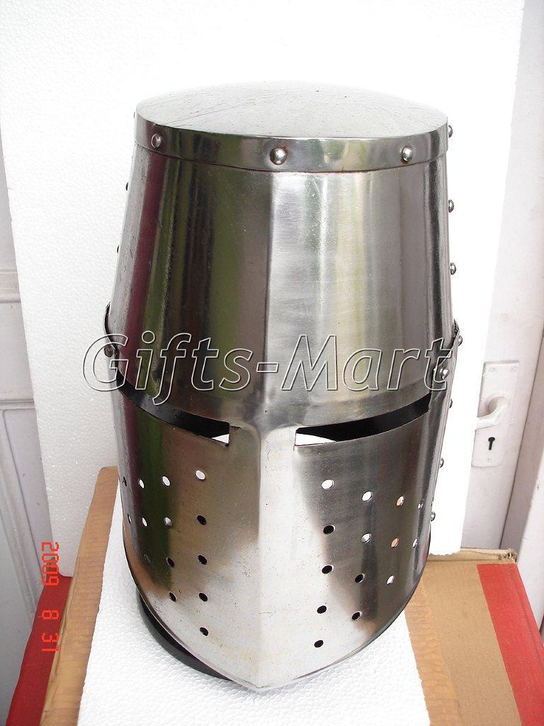 Medieval knight Helmet Militaria Crusader Helmets, Fancy Dress, Crusaders' dress