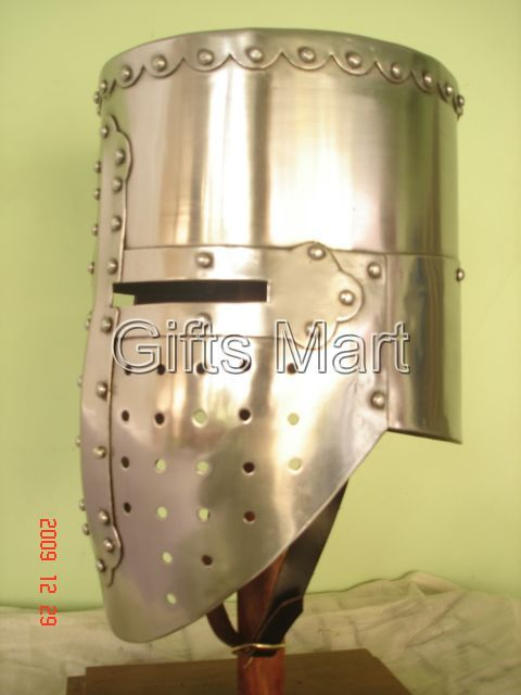 Medieval knight Templar Helmet Crusader Helmets With Free,Leather Inner Liner Cu