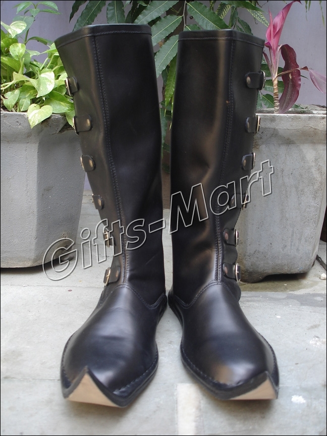 New Fancy Medieval Boot,  Stylish,Leather,Collectables Sca Shoe, Mens Long Boots