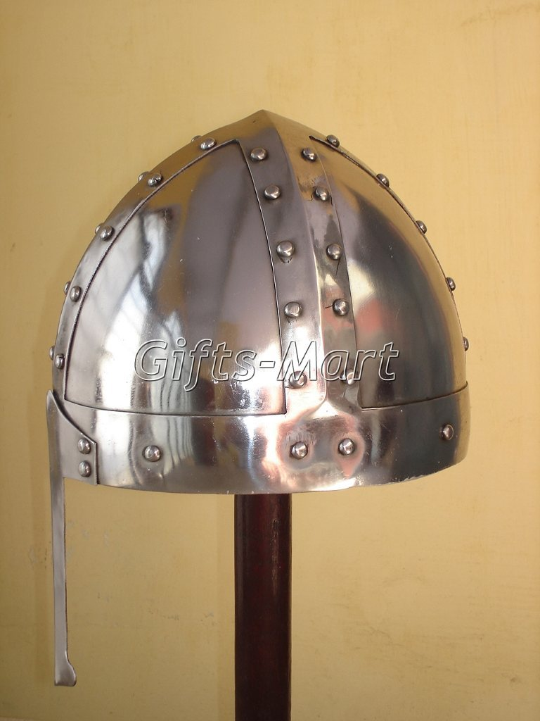 Norman Crusade Helmet, Costume Armour Helm W/chin Strap, Collectible Gift