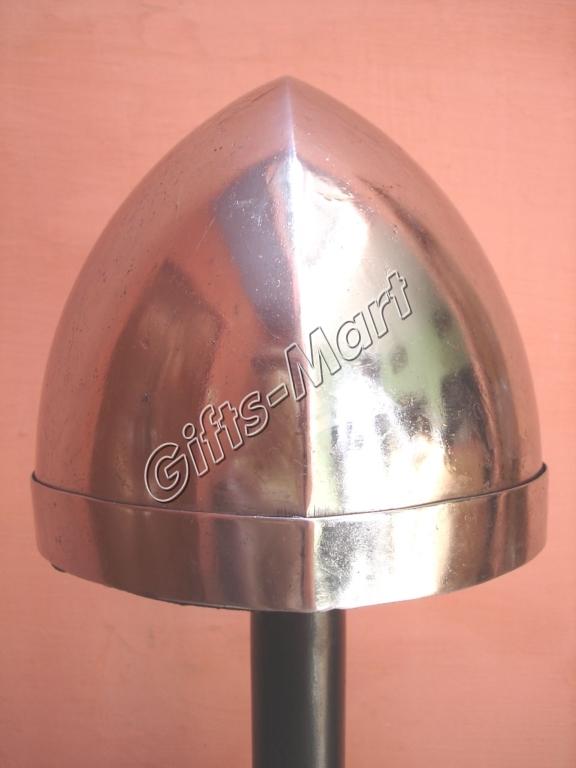 Norman Helmet, Medieval Nasal Sca helmets W/chin Strap, Militaria Armor Helmets*