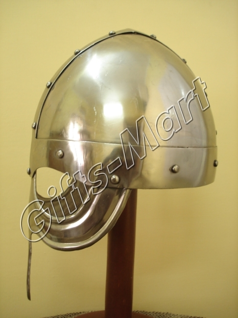 Norman Viking Helmet, Collectible Militaria w/CHINStrap, Viking' Armour Helm