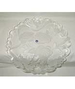 Aderia Glass Japan Frosted Roses Design 14-inch Platter - $19.75