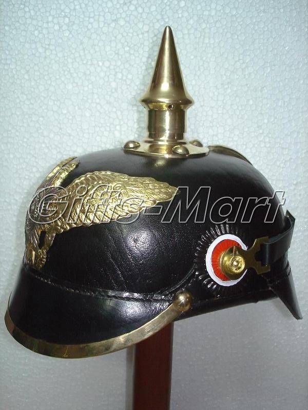 Preussen  Helm preußischen, Leder Deutsch Pickelhaube Ritter-Helm, Lederhut, B