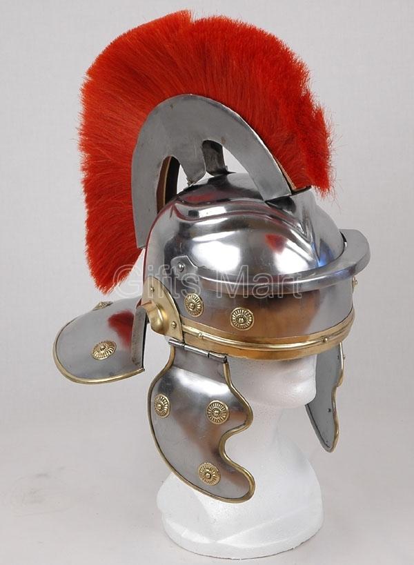 Roman Centurion Helmet, +Free LINER, High Quaity Gallic Medieval Military Armor