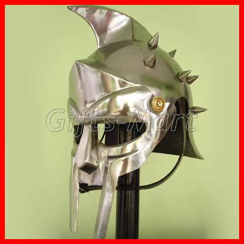 Roman GLADIATOR MAXIMUS HELMET,+Free Leather Liner,Armor,Greek ,Movie,Prop,Larp