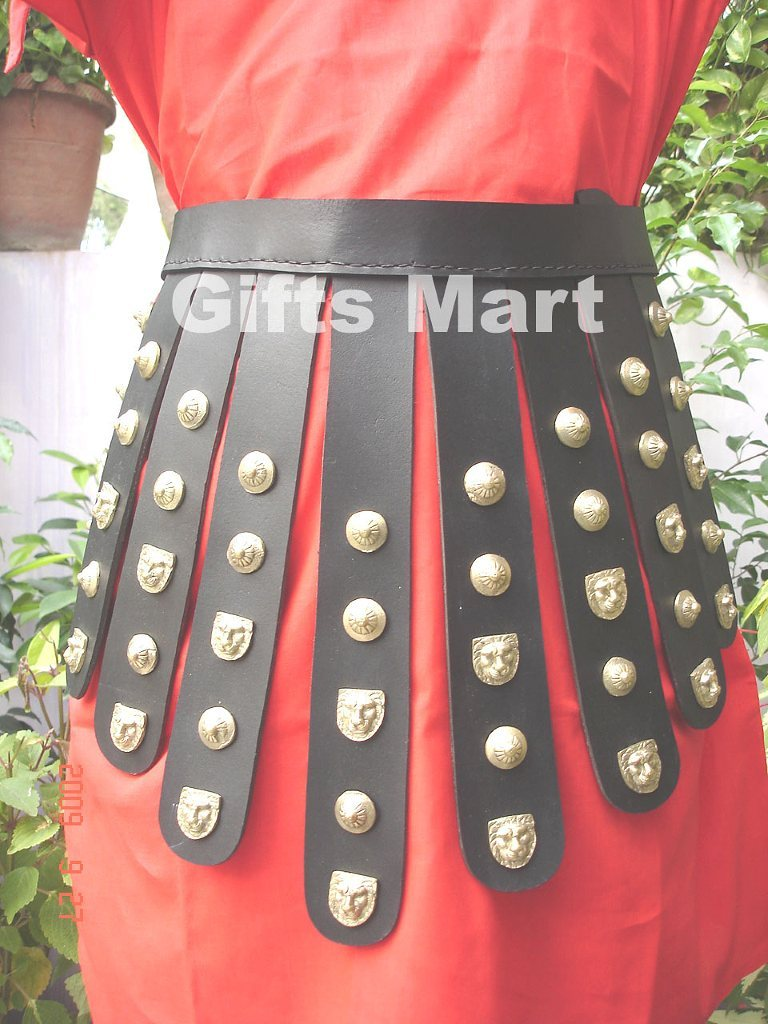 Roman Greek Belt, Medieval Larp Leather belts Armour, Reenactment Armor Belts