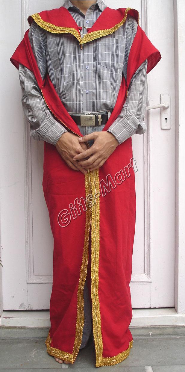 Roman Greek Costume Red Tunic Cape, Medieval Reenactment Dress Fancy,dress,,