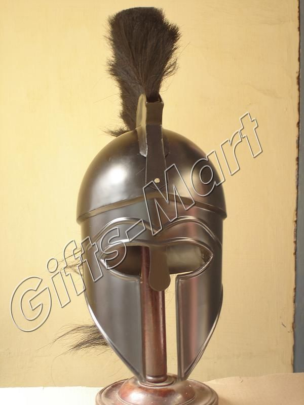 Roman Spartan Greek Corinthian Helmet Armor with plum Medieval, Armor Costume
