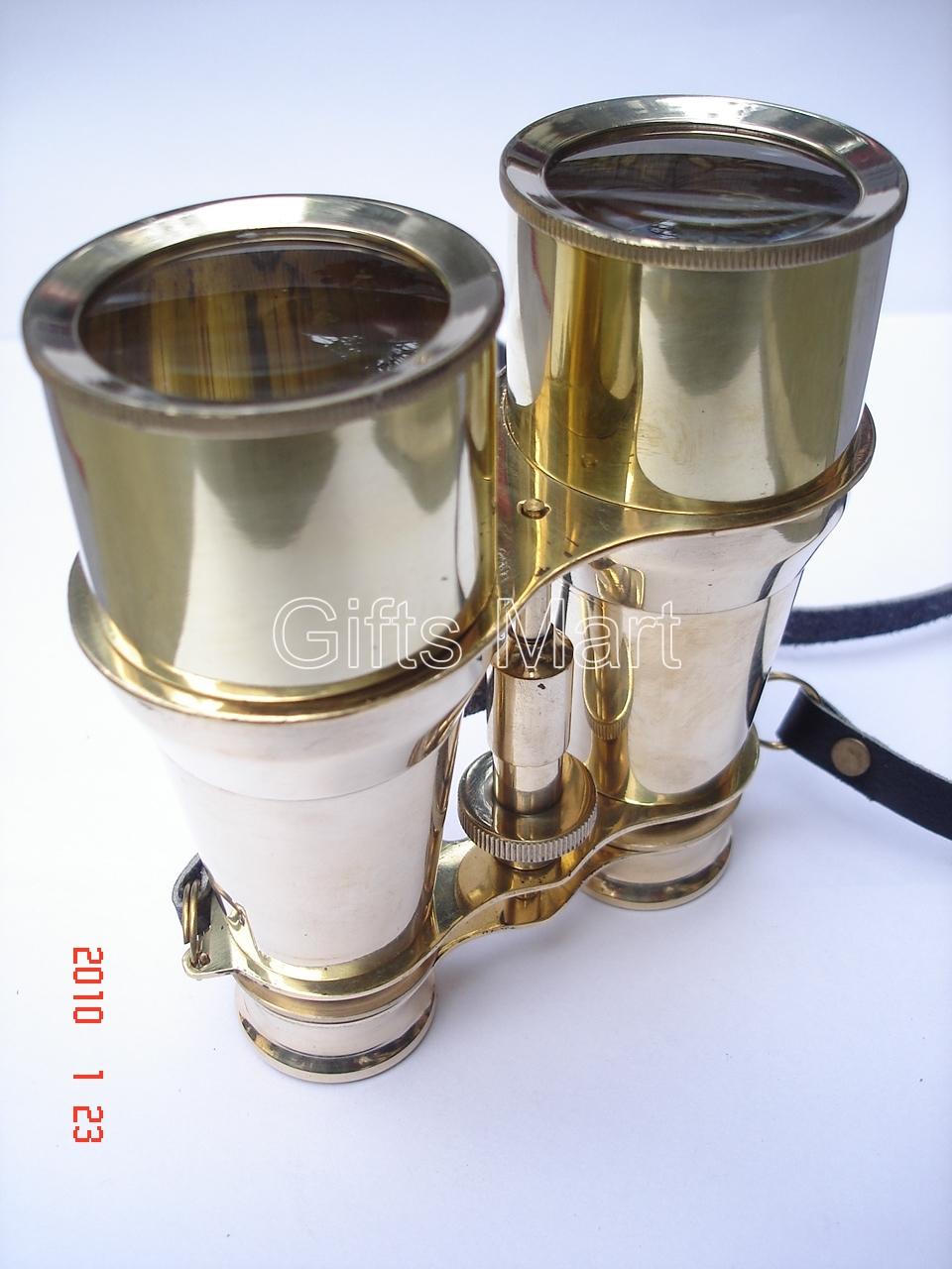 "Solid Brass Binoculars 6"" Home,Nautical Survey, Decor Real, decorative item gift"