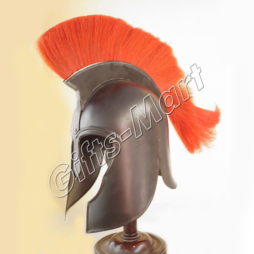 Troy Helmet Trojan Medieval Reenactment Helmets +Leather Liner Armour Costume