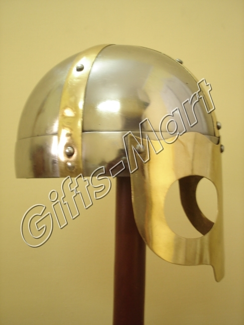 Viking mask Deluxe Helmet Medieval helmets w/CHINStrap Collectible,Movie,Prop