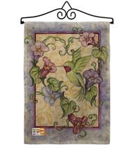 Hummingbird with Trumpet Flowers Burlap - Impressions Decorative Metal Wall Hang - $33.97
