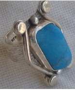 Turquoise silver ring MR 80 - $53.00