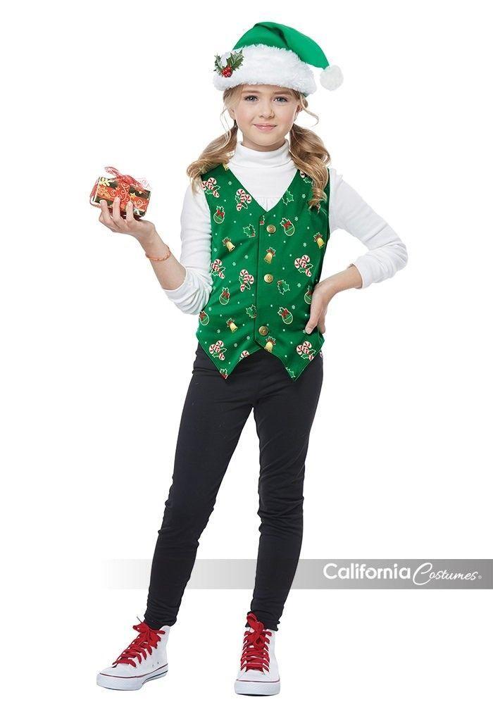 California Kostüme Holiday Weste Grün Kinder Jungen Mädchen Weihnachten Kostüm