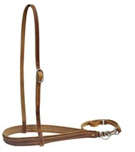 WESTERN HORSE BROWN LEATHER TIE DOWN AND NOSE BAND ROPING BARREL RACING ... - $29.50