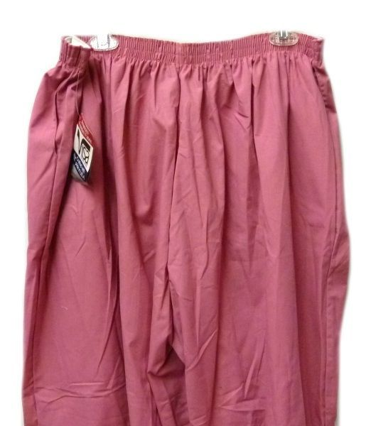 P.R.N 1067 Elastic Waist Uniform 5XL Geranium Pink Scrub Pants Bottom New image 3