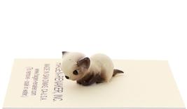 Hagen-Renaker Miniature Cat Figurine Tiny Siamese Kitten Lying Seal Point image 2
