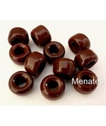 25 5 x 9 mm Czech Glass Crow Beads: Opaque Brown - $1.15