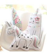 Unicorn One Horned Cat Icecream Plush Pillow Soft Animal Shaped Doll Dec... - $14.15+