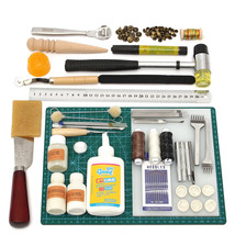 Leather Craft Tool Kit Leather Hand Sewing Tool Punch Cutter DIY Set - $80.38