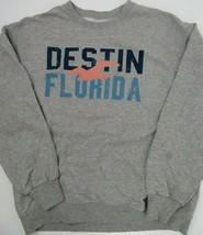 Destin Florida Grey Sweatshirt Men's Size L - $19.79